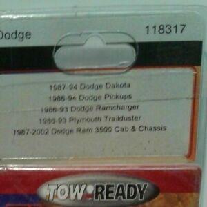 TOWREADY 118317 TRAILER WIRING 87-94 DODGE DAKOTA 86-94 DODGE PICKUP