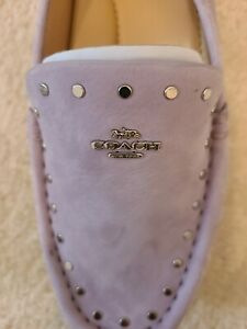$178 New Women COACH  Limited Edition Soft Lilac Suede Shoes Size 9 B
