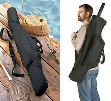 Black Fishing Gear Bag Rod Reel Carrier Holder Pole Storage Organizer Case
