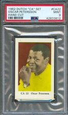 1962 Dutch Gum Card CA #22 OSCAR PETERSON Canadian Jazz Pianist PSA 9 MINT
