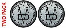 "Valar Morghulis Valar Dohaeris Full color Digital Stickers TWO PACK 4"" wide each"