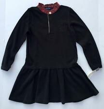 Ralph Lauren Girls long sleeved rugby black dress holiday 6x $55 long sleeve nwt