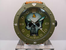 ALESSANDRO BALDIERI M48 CARBON HAND PAINTED SKULL DIAL BY TIMOTHY JOHN 48MM