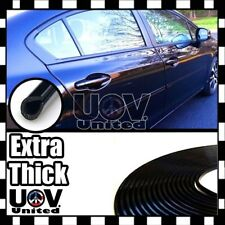 "200"" Black Car Door Edge Rim Guard Molding Trim DIY Protector Strip Thicker Long"