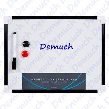 New A4 Mini White Board Dry Wipe Magnetic Office Kitchen Notice Memo Pen Eraser✔