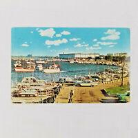 Vintage 1962 Postcard Burnham Park Yacht Harbor McCormick Place Chicago Illinois