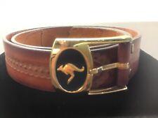 Vintage Genuine Leather Australian Belt and Kangaroo Buckle waist 36