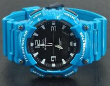 Casio TOUGH SOLAR ELECTRIC BLUE ANADIGITAL illuminator WATCH CRONOGRAPH MONTRE