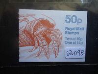 great britain 50p folded booklet marine life.2 (FB.54) trim perfs