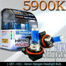 H11 5900K XENON HALOGEN HEADLIGHT BULBS FOR LOW BEAM - SUPER WHITE