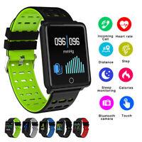IP68 Wasserdicht Smartwatch Sports Uhr Pulsuhr Blutdruck Fitness Tracker Armband
