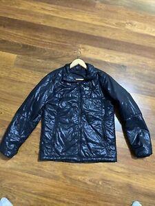 Mens Millet Mountain Down puffer jacket packable hiking black size Medium US