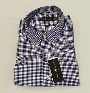 Polo Ralph Lauren Men's Gingham Oxford L/S Button-Up Shirt CL8 Blue Size 3XB NWT