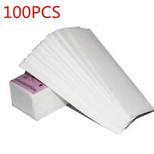 100pcs Hair Removal Depilatory Wax Strips Epilator Paper Pad Face Body Waxing