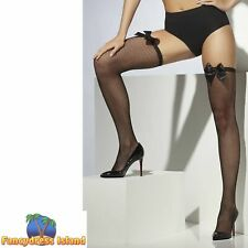 Fishnet Hold-Ups Stockings Glamour Tights Halloween Fancy Dress Accessory