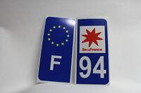 2 stickers REFLECHISSANT département 94+F