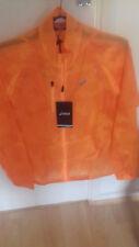 New Ladies ASICS Lightweight 'Motion Protect' Running Jacket in Orange Uk Small