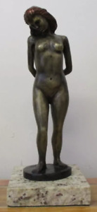 """LEO MOL BRONZE SCULPTURE """"BATHER"""" SIGNED AND NUMBERED"""