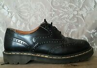 DOCTOR MARTENS Black WingTip Oxford Dress Shoes Mens 10 Made in England