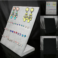 60 Slots Earrings Velvet Jewellery Display Box Storage Tray Case Holder Stand