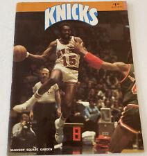 NEW YORK KNICKS 1976 - 1977 Program. Earl Monroe vs. 76'ers 3/5/77. NY