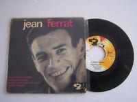 EP 4 TITRES VINYLE 45 T , JEAN FERRAT , LES ENFANTS TERRIBLES . VG/VG . DEDICACE