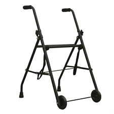 PEPE-ANDADOR, Andador Adulto, Andador 2 Ruedas Negro de Aluminio y Acero