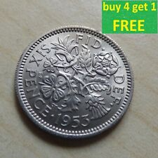 More details for elizabeth ii sixpence 6d coins choose your date 1953 - 1970