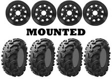 Kit 4 Kenda Bearclaw K299 Tires 26x9-12/26x11-12 on ITP Delta Steel Black SRA