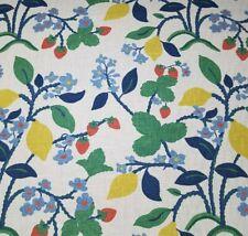 """Crewel Summer in Cherry Bty Robert Allen Linen / Rayon Slub Duck 54"""" Wide Fruit"""