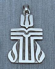 James Avery 925 Sterling Silver Dove Cross Fire Pendant