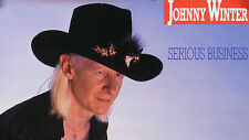 JOHNNY WINTER 1985 SERIOUS BUSINESS PROMO POSTER ORIGINAL
