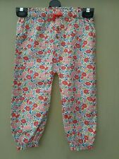 Baby Boden Girls Pull On Floral Print Trouser Age 6 - 9 Months New (ref 326)