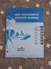 1974 2HP Models Genuine Evinrude Johnson Outboard Repair & Service Manual 2 HP