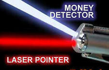 3in1 Portable Red Laser Pointer Currency Detector USB LED Flashlight Pen Torch