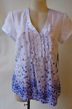 NEW Blue & white shirt top size 8 The Clothing Company NWT RRP $110 floral print
