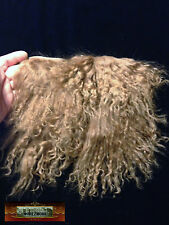 M01116 MOREZMORE Tibetan Lamb Remnants TOFFEE BROWN Doll Baby Hair Wig A60