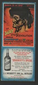 Whiskey advertisement blotter - J. A. Dougherty's Sons (1940s)