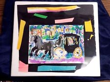 "VINTAGE BOB KANE MODERNIST EXPRESSIONIST WATERCOLOR SEAL INC MOUNTING 7"" X 5"""