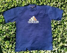 Vintage 80'S 90'S Adidas big embroidered logo shirt XL