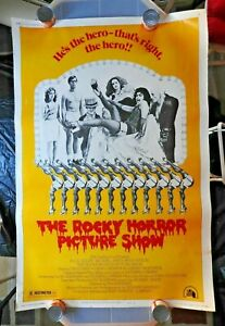 """1975 """"THE ROCKY HORROR PICTURE SHOW"""" 40 x 60"""" Movie Poster Tim Curry Sarandon"""