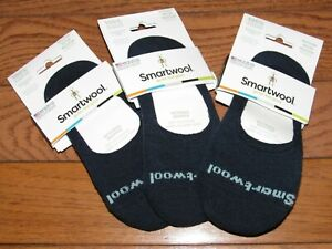 Lot of 3 Pairs of Smartwool Internal Gripper No Show Socks M womens Navy