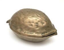 "Vintage Brass Walnut Nut Cracker 5"" Tiki Bar Retro"