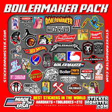 Boilermaker Pack (40) Welder Stickers HardHat Sticker & Decals, Welding Hood