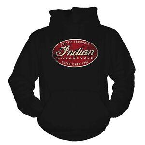 Indian Motorcycle USA Biker America Kapuzensweats Hoodie S-4XL