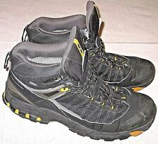 Salomon 3D Chassis Sensifit Sure Tex Hiking Boots Black Yellow Mens Size 11.5
