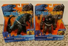 Playmates Godzilla Vs. Kong MonsterVerse Kong W/ Battle Axe Godzilla w/ heat ray