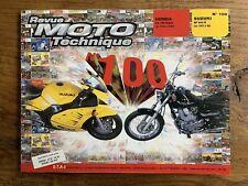 Revue MOTO Technique HONDA CA 125 Rebel - SUZUKI RF 600 R de 1993 à 96