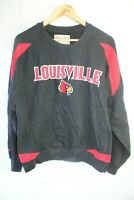 Retro vintage Louisville cardinals sweatshirt NCAA jumper Small black red