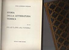 letteratrura universale - storia della letteratura tedesca volume secondo